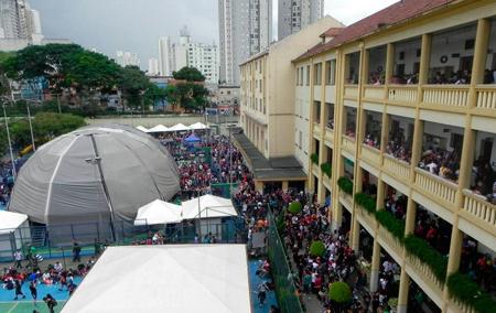 O Colégio Marista Glória recebeu um público estimado em cerca de 10 mil pessoas!