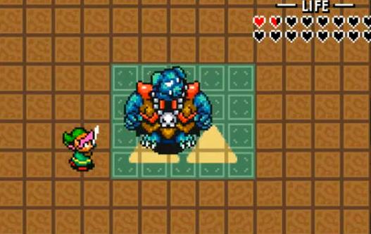 A aparência de Ganon é horripilante no game!