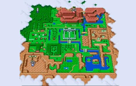 O mapa auxilia tanto em Hyrule quanto na Terra Dourada!