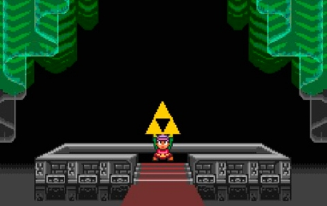 A conquista da triforce final é a recompensa final!
