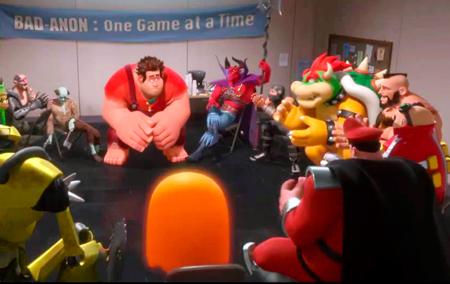 Bowser, Robotnic, M. Bison e até o não-vilão Zangief estão na reunião dos malvados anônimos.