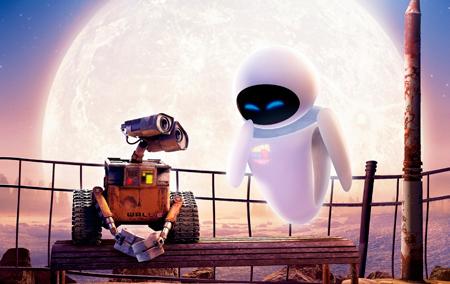 Os robôs também amam!  Graças a amor por Eva, um robozinho muda o destino da Terra!