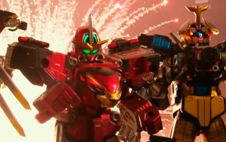 Dá gosto de ver as batalhas de Ace o robô vermelho de Hiromu!
