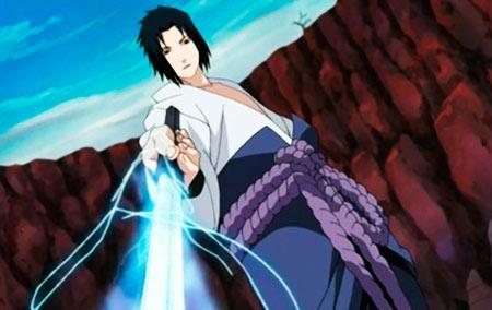Sasuke aparece com sua nova aparência!
