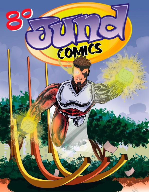 Ilustração do cartaz do evento criada por Célio Luigi!