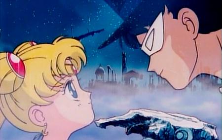 Sailor Moon e Tuxedo Mask tem uma ligação que os une desde passados longínquos.