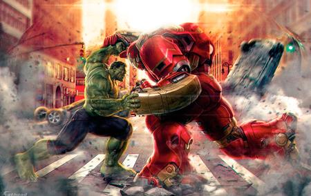 Quem não se empolgou com a luta arrasa quarteirões do Hulk contra a armadura Hulkbuster do Homem de Ferro?
